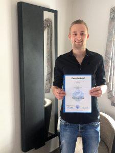 Marius Migdoll hat die Gesellenprüfung bestanden.